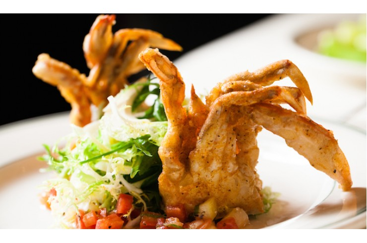 A4  Deep fired soft shell crab